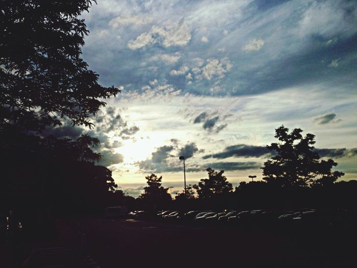 Parking Lot Sunset... Parking Lot Clouds And Sky EyeEm Nature Lover