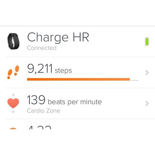 Glad to know my investment is working 😁👍 Fitbit Chargehr Fitness Watch worthit gymsesh random vsco