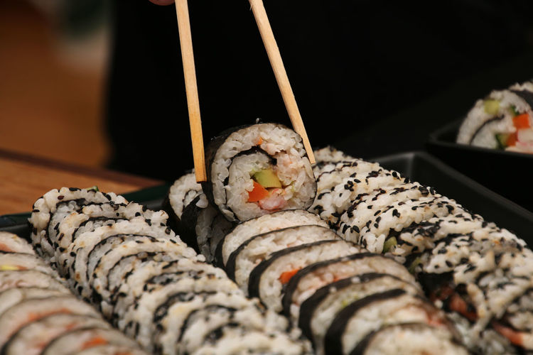 Celebration Chopsticks Close-up Food And Drink Freshness No People Party - Social Event Preparation  Rice Selective Focus Sushi