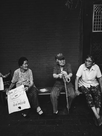 Collected Community Old People Group Chat Streetphotography Contest