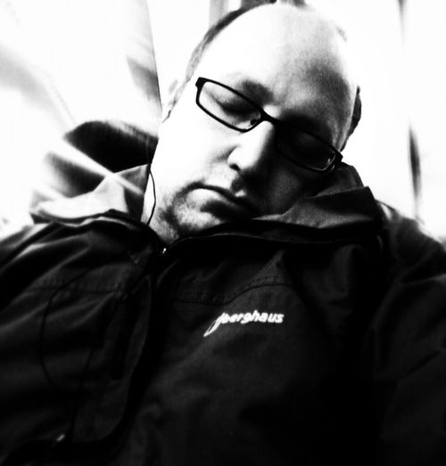 It's been a hard week. Sleeping Friday Selfportrait Riding The Train