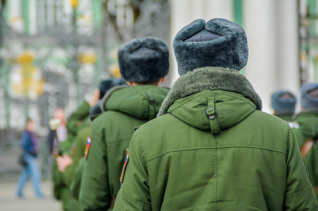 Army Army Life Army Soldier Army Style ArmyLife Day Green Color Men Outdoors People Real People Rear View Russia Russian Army Saint Petersburg Saint Petersburg, Russia Warm Clothing