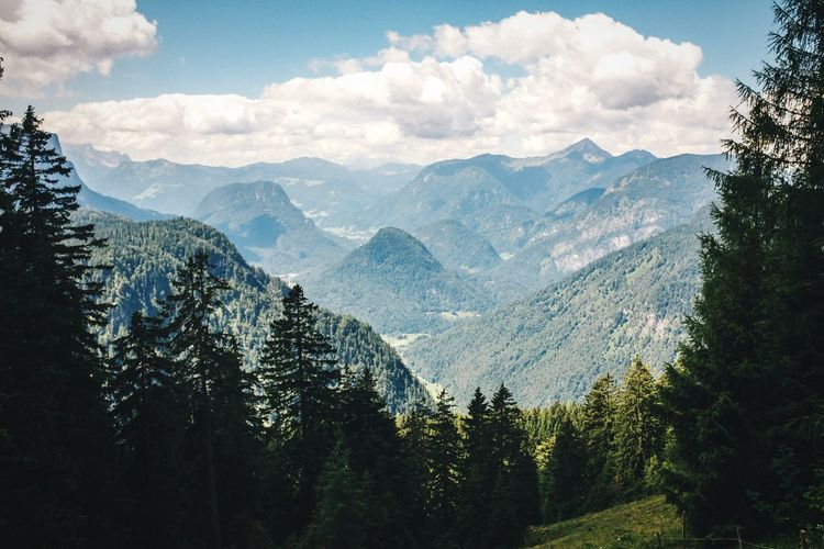 Good view Open Edit No People Nature Photography Summer Landscape Outdoors Bavarian Alps Colour Of Life Mountains Alps Nature Mountain Green Color Green Countryside Bavaria Scenics Mountain Range Clouds And Sky Non-urban Scene Germany Alpen Tourism Hiking A Bird's Eye View