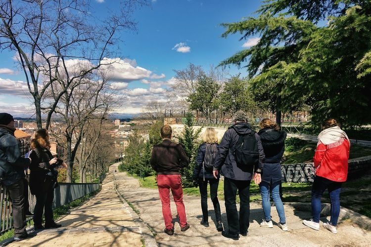 Casual Casual Look Madrid Panoramic People Watching SPAIN Spain♥ Sunlight Bare Tree Casual Clothing Group Of People Leisure Activity Lifestyles Mountain Range Outdoors Park People Real People Sierra De Guadarrama Spring Springtime Sunlight And Shadow Top View Tourism Walking
