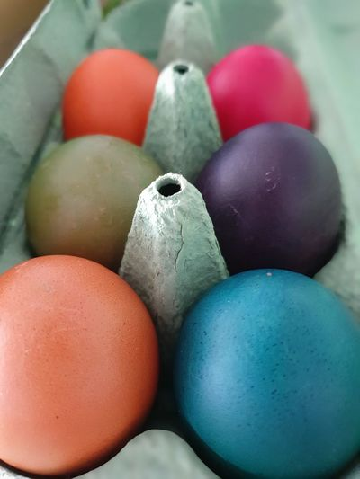 easter eggs Easter Eggs Easter Sunday Bunny  Rabbit Celebration Hiding Basket Coloring Variation Simplicity Minimalism Chickens Healthy Lifestyle Ready-to-eat Rainbow Colors EyeEm Best Shots My Best Photo Playtime Multi Colored Easter Egg Carton Egg Variation Easter Egg Close-up Food And Drink Eggshell Served Medium Group Of Objects Boiled Egg