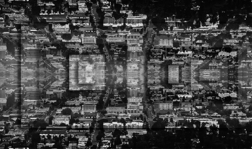 Photo Collage of Major City Los Angeles in Black and White Architecture Building Exterior Built Structure City Cityscape Cityscape Collage Collage Art Day Full Frame No People Outdoors Sky Travel Destinations