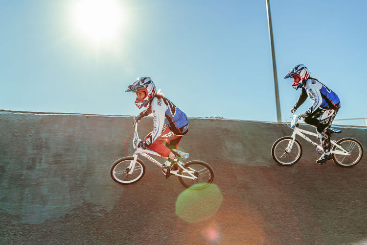 BMX Race. Sisters riders Action Bike Ride Bikes Bmx  Bmx Gi Bmx Race Bmxlife Circuit Extreme Sports Headshot Otudoors Racing Bike Sisters Sports