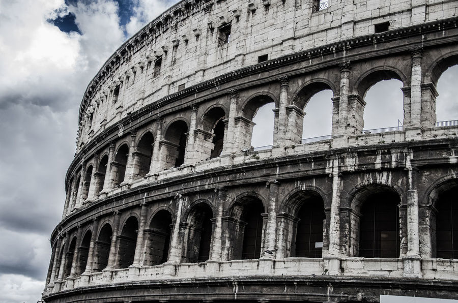 Amphitheater Ancient Ancient Civilization Ancient History Architecture Bad Condition Building Exterior Built Structure City Cloud - Sky Colleseum Collesium Cultures Day History Low Angle View No People Old Ruin Outdoors Roma Sky The Past Tourism Travel Travel Destinations