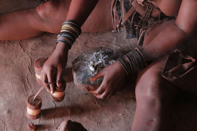 AFRICAN CULTURE Himba Tribe Namibia NamibiaPhotography Tradition Traditional Culture Traditional Clothing Tribes African Beauty Ash Close-up Human Hand People Real People