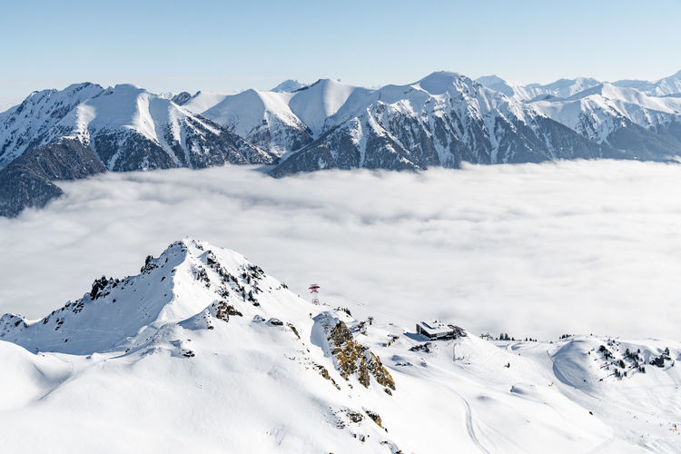 Scenic view of snow covered mountains against sky, gastein, austria