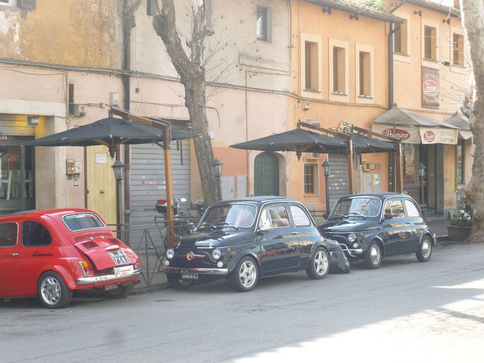 Cinque Moving Around Rome Architecture Building Exterior Built Structure Car Cinquecento City Day Land Vehicle Mode Of Transport No People Outdoors Road Street Transportation