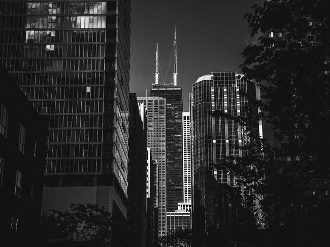 John Hancock Building in black and white Black And White John Hancock Building Hancock HancockTower Chitecture Chicago Bnw Bnw_life