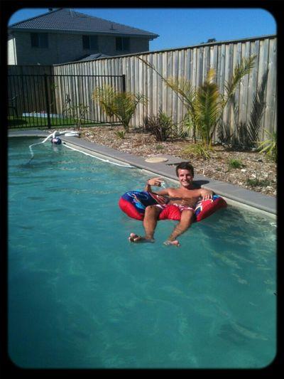 Chilling in the pool! Fletcher Australia Pool Sun