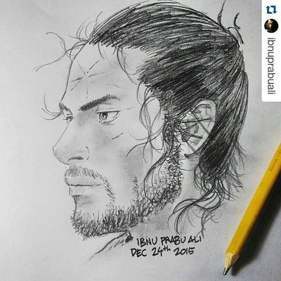 Repost @ibnuprabuali with @repostapp ・・・ Art Illustration Drawing Draw Picture Photography Artist Sketch Sketchbook Paper Pen Pencil Artsy Instaart Gallery Masterpiece Creative Instaartist Graphic Graphics Artoftheday Takehikoinoue MUSASHI Miyamotomusashi musashimiyamoto vagabond all_shots exposure composition