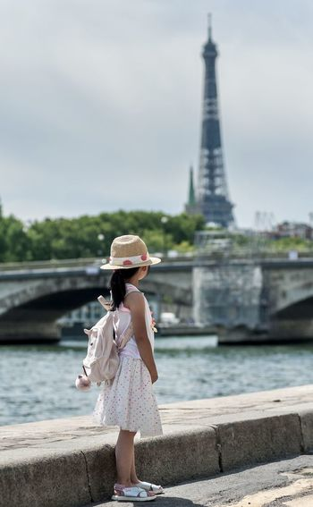 Cute girl discovering paris.
