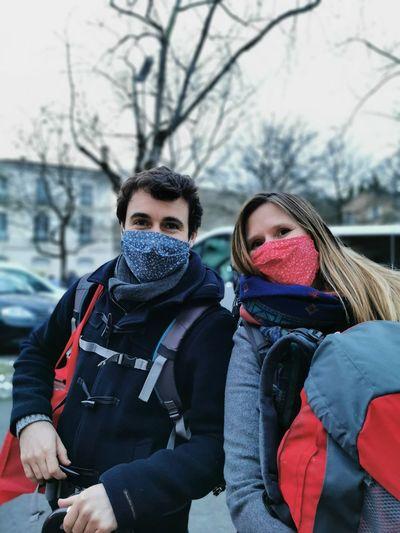 Portrait of people in winter