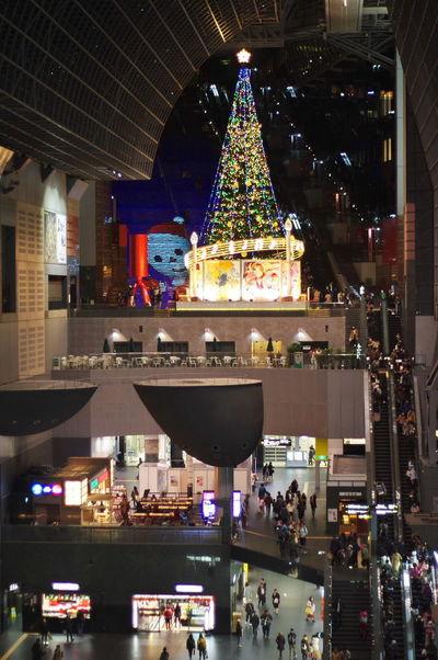 そうだ京都、行こう。 京都駅 クリスマスツリー 雪だるま Kyoto Station Christmas Tree Snowman