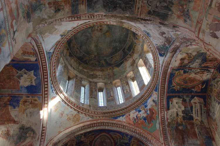 Architecture Ceiling City Cupola Day Dome Fresco Gelati Georgia Godafotografuoja Human Representation Indoors  Low Angle View Monestary Nikon Nikonphotography No Filter No People Place Of Worship Raw Photography Religion Spirituality Tourism Travel Travel Destinations