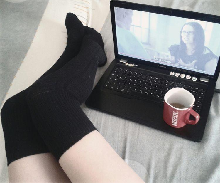 Black is the new black ^^. Relaxing Coffee Watching Series Orange Is The New Black Kneesocks Kneehighsocks