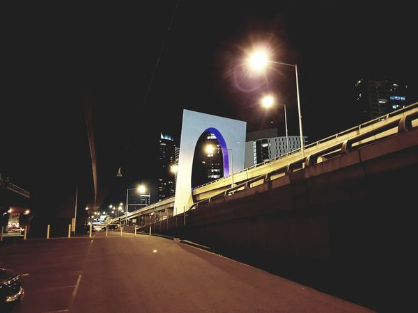 Night Bridge - Man Made Structure Illuminated Architecture City Connection Outdoors Built Structure Road No People Sky Live For The Story Photography The Great Outdoors - 2017 EyeEm Awards s Samsung Samsungphotography Galaxys8