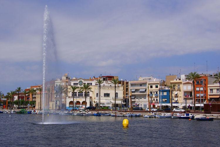 Day No People Outdoors Port Of Tarragona-Spain Water Water Pump