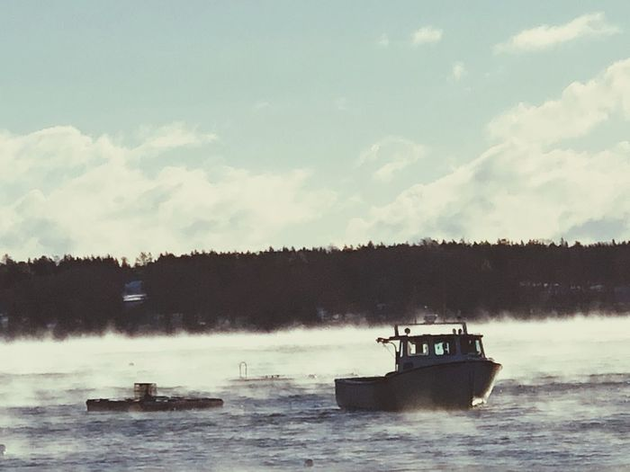 Lobster Boat Fishing Maine Nautical Vessel Transportation Water Mode Of Transportation Sky Cloud - Sky Nature First Eyeem Photo