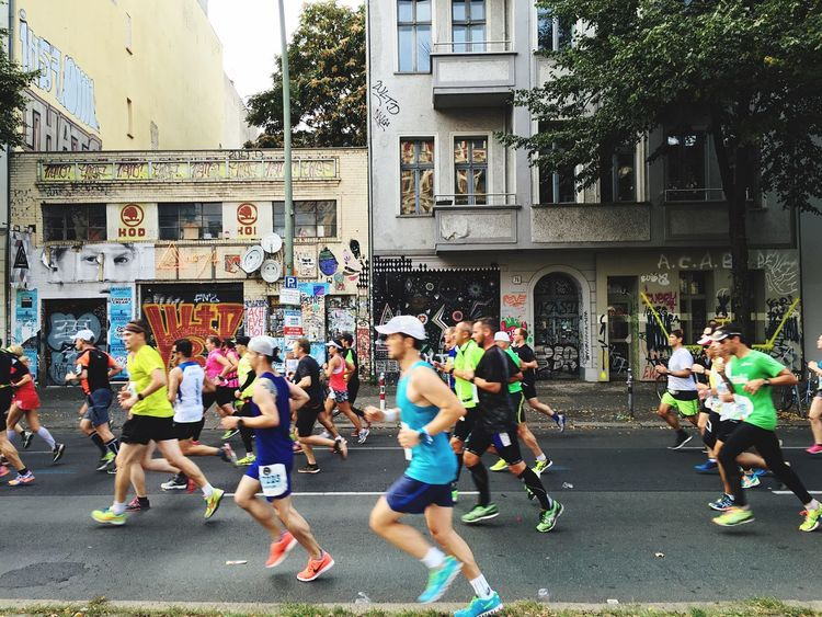 Run! Marathon Runners Group Of People Motivation Overcome Sport