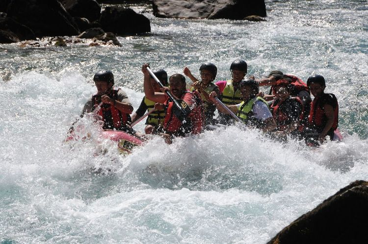 Raftingtime Adventure Teamwork Fun Aquatic Sport Challenge Water Extreme Sports Tara Canyon Tara River Clear Water