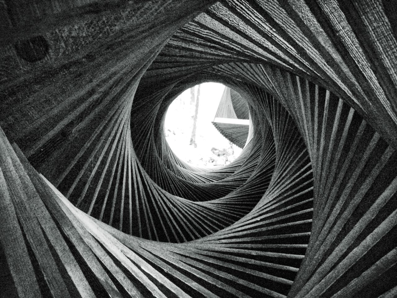 Close-Up Of Spiral Wooden Structure