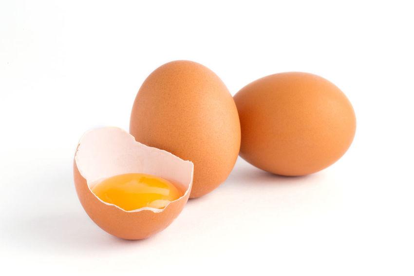 Eggs isolated on white background Bird Chicken Easter Egg Eggs Eggshell Food And Drink Fragility Freshness Healthy Eating Organic Poultry Studio Shot White Background Yellow Yolk