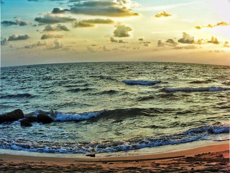 Sea Sky Clouds And Sky Waves Syria  Latakia