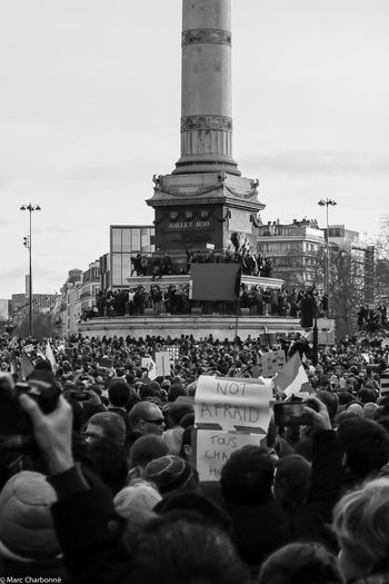 Attentat Attentat Paris Charlie Charliehebdo City Life Cultures Famous Place Large Group Of People Manifestation Manifestation Contre Le Terrorisme Paris Real People The Photojournalist - 2017 EyeEm Awards