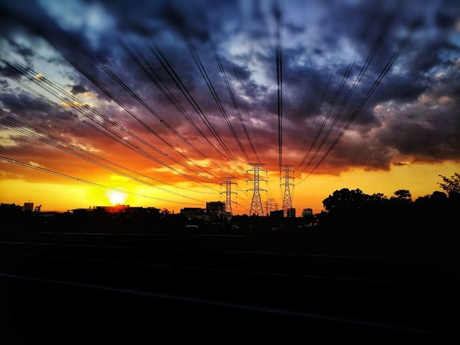 sunset from the highway Sunset Sky Dramatic Sky Cloud - Sky Silhouette Nature Beauty In Nature Dusk No People Scenics Backgrounds Outdoors Multi Colored Tree Day EyeEmNewHere