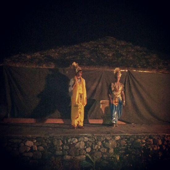 Mahabharata in wilderness Rishikesh India God Krishna Arjun Gita Geeta Instagram Instaah Instagood Statigram Theatre Play