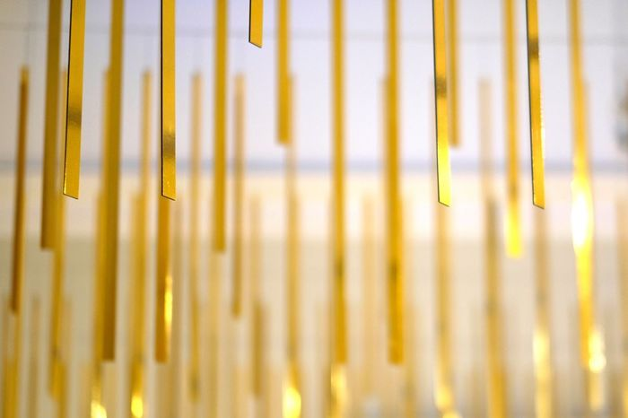 EyeEm Best Shots Gold Golden London Stripes United Kingdom Backgrounds Close-up Day Fragility Full Frame Gold Colored Metal Nature No People Outdoors Pattern Yellow
