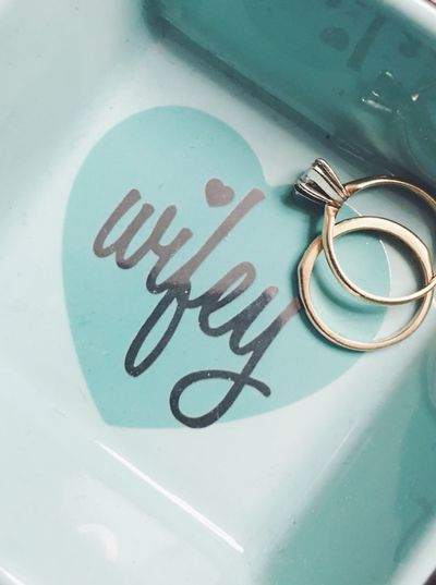 Wifey rings Photography Ring Holder Wife Rings Marriage  Rings 💍