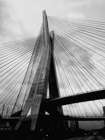 Bridge - Man Made Structure Transportation Streetphotography Blackandwhite Monochrome Streetphoto_bw Monoart Monochrome_life Mobliephotography Architecture