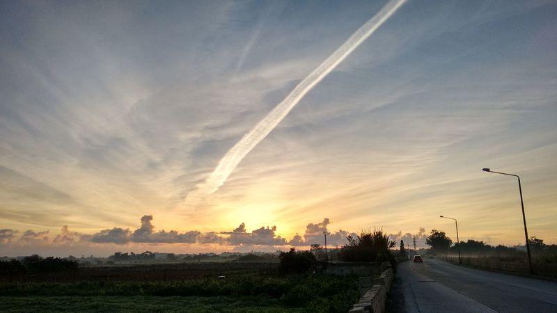 Dramatic Sky Travel Outdoors Sky Morning Sunrise Drivetowork Mist