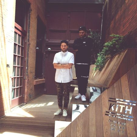 Ronnie fieg Kith Clothing NYC and my boy cancun SittinOnMusic