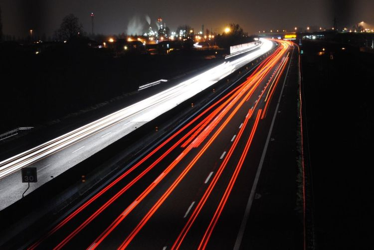 Photography In Motion Lights Lights And Shadows Long Exposure Exposure Night Night Lights Car Cars Outdoors City Cityscapes Lines Red Streetphotography Highway