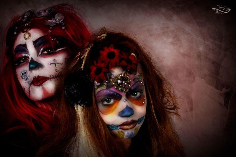 Santamuerte Modèles : Lucie / Gea.D Makeup Jacko Taking Photos Mixo Photoshop Edit Miss LafeýArt