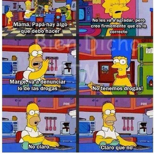 No claro... Claro que no ??? que sería de mi Instagram sin las fotos de Simpsons Homero