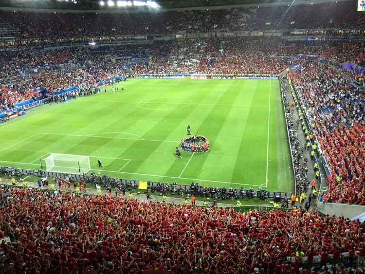 Wales - Portugal Euro2016 Football Stadium Wales Fans Match