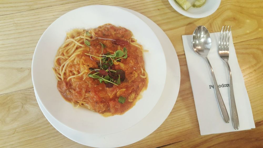 Seoul_korea Coex With My Mommy❤ Spagetti Lunch Pomodoro