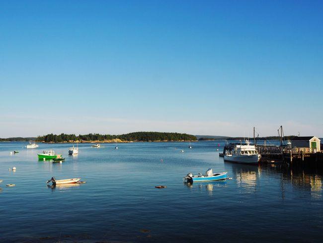 Deer Isle, Maine Maine Deer Isle EyeEm Selects Nautical Vessel Water Transportation Mode Of Transportation Sky Clear Sky Sea Blue Moored Waterfront No People Sailboat