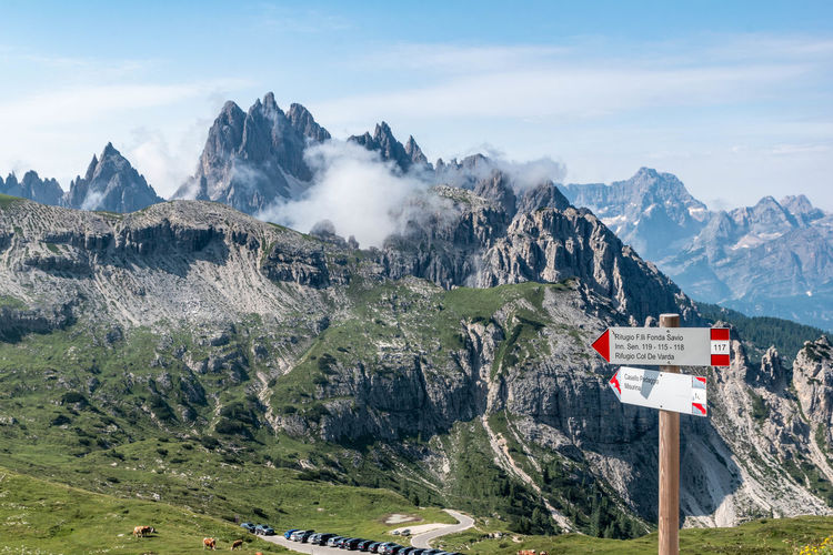 Panoramic view of landscape dolomites