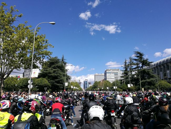 Madrid Motorbikes Ángel Nieto Tribute Sky Santiago Bernabeu City Jarama Honda Yamaha Ducati 12+1 Awesome Crowd Outdoors WeekOnEyeEm Motogp