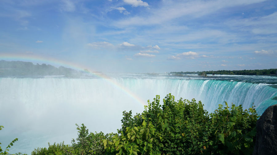 Niagara Falls, Canada Water Scenics - Nature Beauty In Nature Rainbow Nature Waterfall Sky Motion No People Outdoors Flowing Water Flowing Turquoise Colored Power In Nature Niagara Falls Canada Roaring Impressive EyeEmNewHere