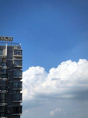 Sky Cloud - Sky Built Structure Building Exterior Architecture Blue Building Day