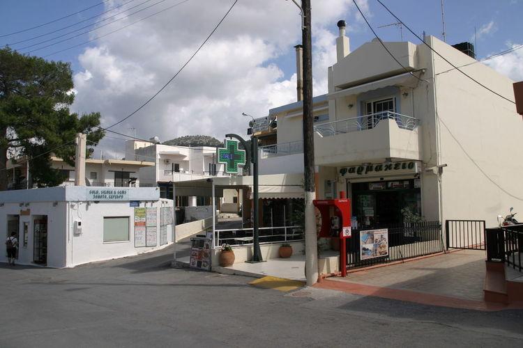 Berge Cactus Royal Geschäfte Griechische Inseln Himmel Und Wolken Kreta Panorama Stallis Bar Restaurant Strandbar Strandbuchten